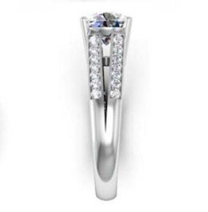 Round Brilliant Cut Diamond Engagement Ring with Split Shank 5 2