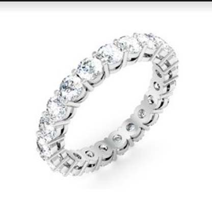 Round Brilliant Cut Diamond Eternity Band 2