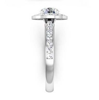 Round Brilliant Cut Diamond Halo Engagement Ring 5 1 2