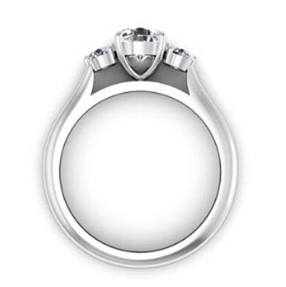 Round Brilliant Cut Diamond Three Stone Engagement Ring 3 2 2