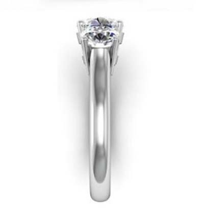Round Brilliant Cut Diamond Three Stone Engagement Ring 5 1 2