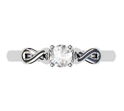 Round Brilliant Cut Infinity Engagement Ring 2 2