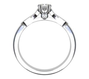 Round Brilliant Cut Infinity Engagement Ring 3 2