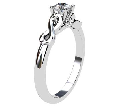 Round Brilliant Cut Infinity Engagement Ring 4 2