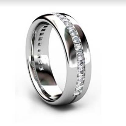 Round Cut Diamond Eternity Band 4