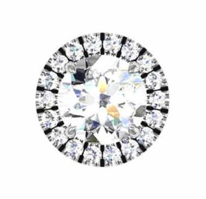 Round Cut Down Set Diamond Halo Earrings 3 2