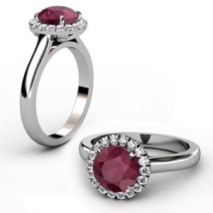 Ruby Halo Engagement Ring 1 2