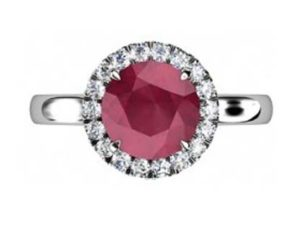 Ruby Halo Engagement Ring 2 2