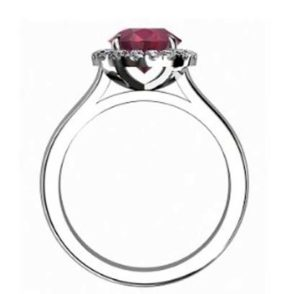 Ruby Halo Engagement Ring 3 2