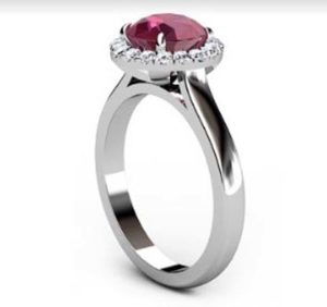 Ruby Halo Engagement Ring 4 2