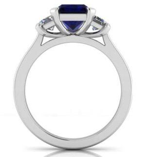 Sapphire Three Stone Engagement Ring 3 2