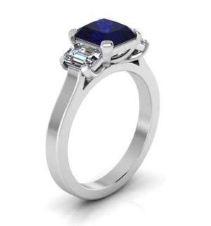 Sapphire Three Stone Engagement Ring 4 2