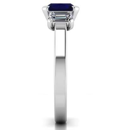 Sapphire Three Stone Engagement Ring 5 2