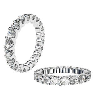 Scolloped Claw Diamond Eternity Band 1