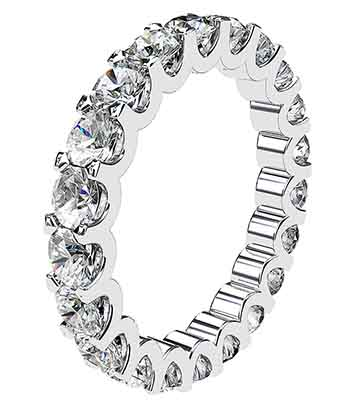 Scolloped Claw Diamond Eternity Band 3