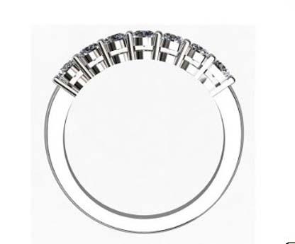 Seven Claw Set Diamond Wedding Band 3