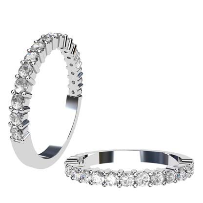 Single gallery claw set round brilliant cut diamond ring 1