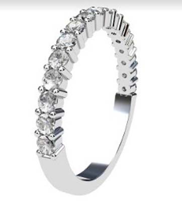 Single gallery claw set round brilliant cut diamond ring 4