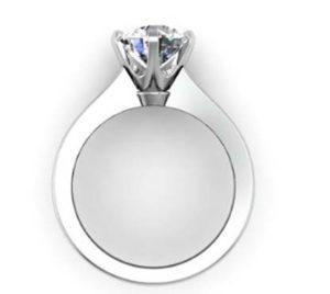 Six Claw Round Brilliant Cut Diamond Engagement Ring 3 2