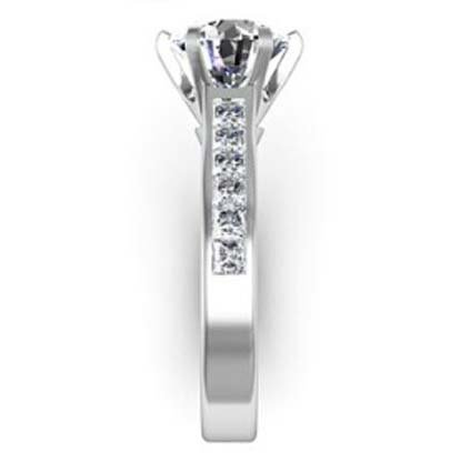 Six Claw Round Brilliant Cut Diamond Engagement Ring 5 2