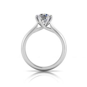 Six Claw Solitaire Diamond Engagement Ring 3 2