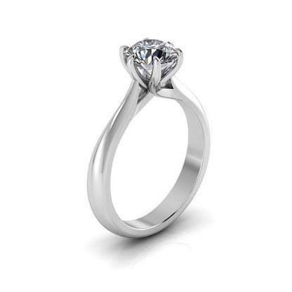 Six Claw Solitaire Diamond Engagement Ring 4 2