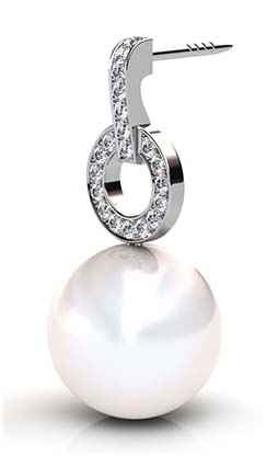 South Sea Pearl Earrings with Diamond Circle 2 2