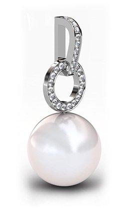 South Sea Pearl Pendant with Diamond Circle 4 2