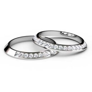 Split diamond angled wedding ring 1