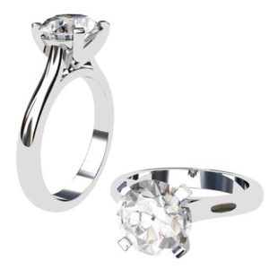 Three Carat Brilliant Cut Round Diamond Solitaire Engagement Ring 1 2