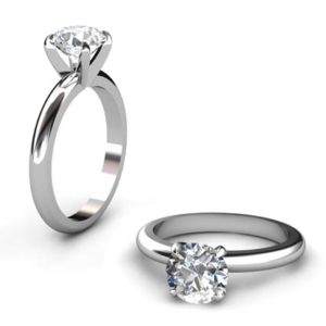 Three Carat Round Brilliant Cut Diamond Solitaire Engagement Ring 1 4
