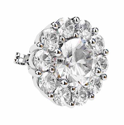 Traditional Diamond Cluster Stud Earrings 3 2