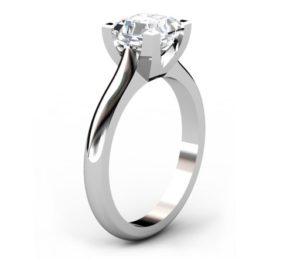 Two Carat Asscher Cut Solitaire Diamond Engagement Ring 4 2