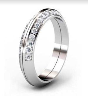 Two Part Diamond Fitted Wedding Band 4