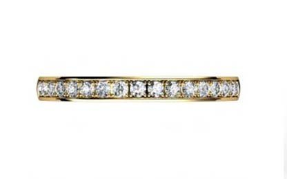 Yellow Gold Pave Set Diamond Half Eternity Band 2
