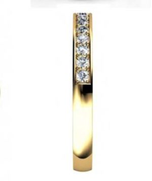 Yellow Gold Pave Set Diamond Half Eternity Band 5