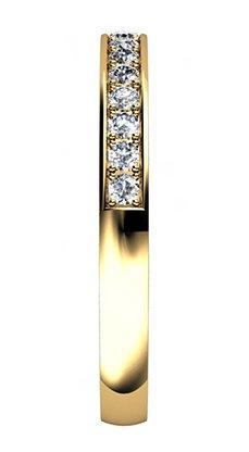 Yellow Gold Pave Set Wedding Ring 5 2