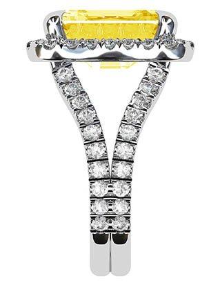 Yellow Sapphire and Diamond Ring 5 3