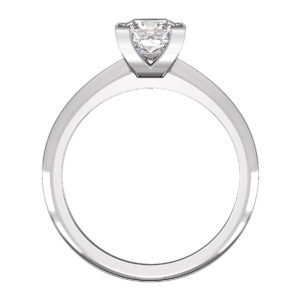 Princess Cut Diamond Engagement Ring with Knife Edge Band 3